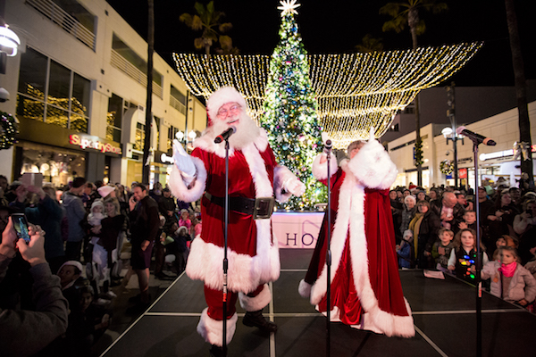 Lighting, Santa Monica, Holidays, Event Lighting, Santa Claus, Christmas Tree, Tree Lighting