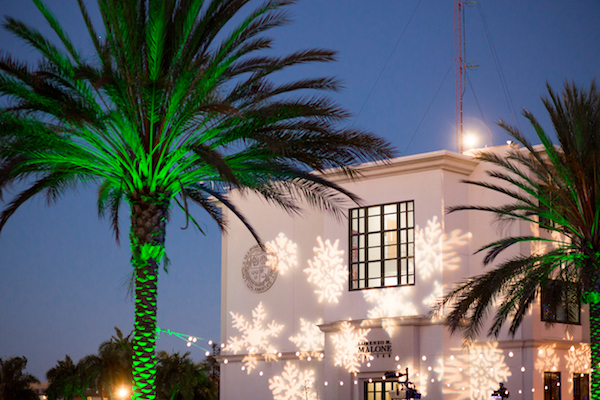 Lighting Installation, Light Show, Loyola Marymount, Holidays, Christmas
