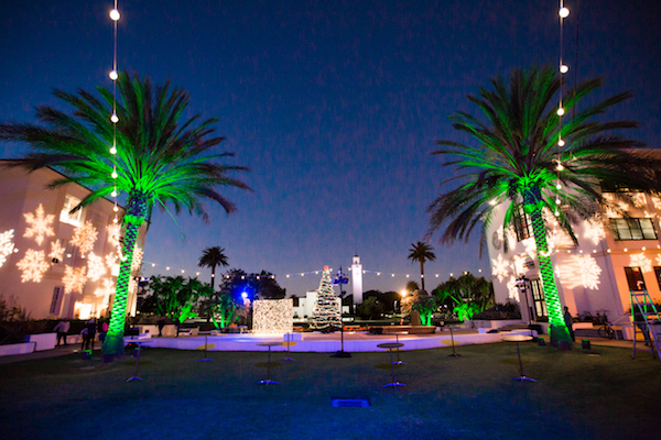 Lighting Installation, Loyola Marymount, Holidays, Christmas