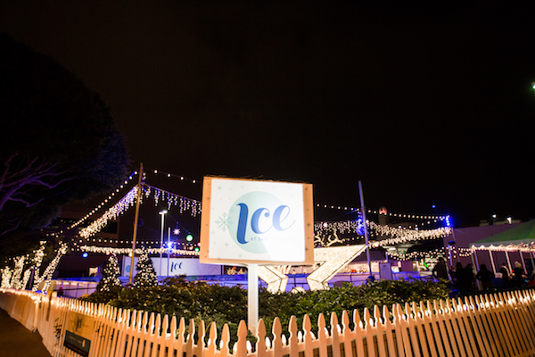 lighting installations, Ice Rink, Pacific Event Services, Santa Monica ICE