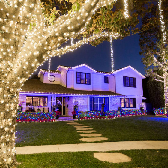 holiday lighting Pacific Event Services