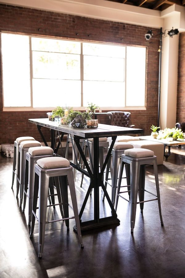 industrial, modern, seating, tables, decor, event design, exposed brick, lighting, av