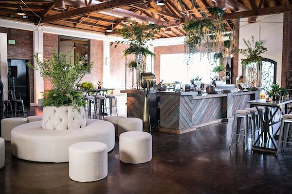 bar, event design, modern, chic, industrial, lighting, av, los angeles, partyslate, LA, at the P