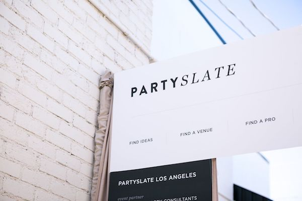 sign, party slate, LA, los angeles, party, AV, lighting, pacific event services