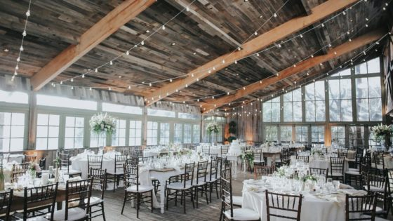 A Rustic Wedding String Light Lightscape